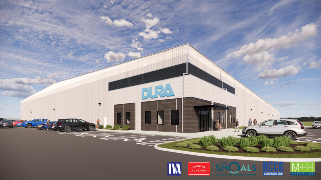 Dura Muscle Shoals Facility Rendering 1 Scaled 1 Alabama, Construction, Cullman, Decatur, Huntsville, Muscle Shoals