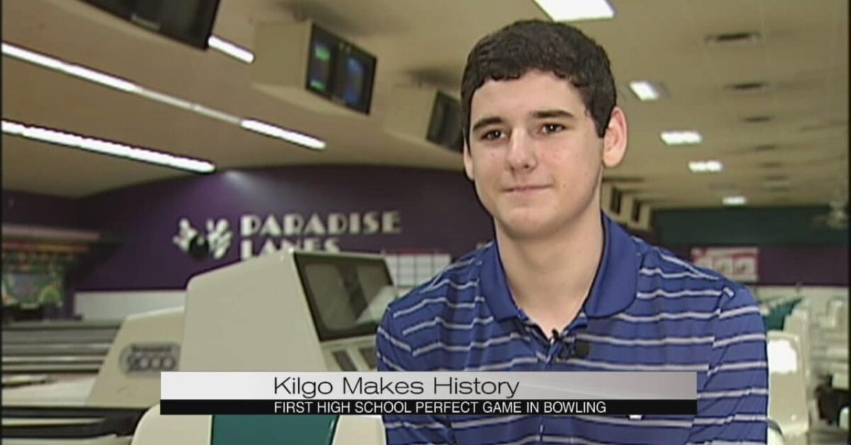 Johnny Kilgo bowls first high school perfect game.