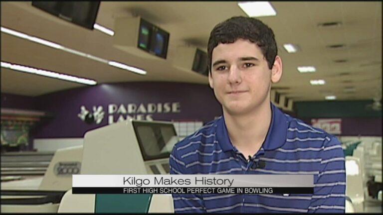 Johnny Kilgo bowls first high school perfect game.