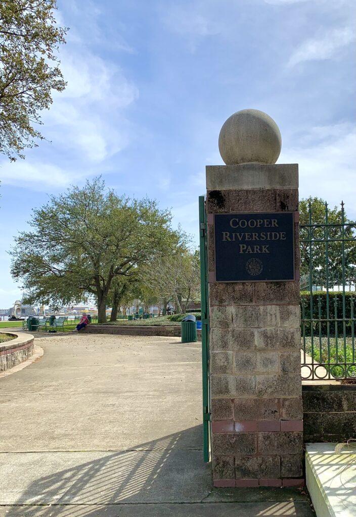 Entrance Gate At Cooper Riverside Park.