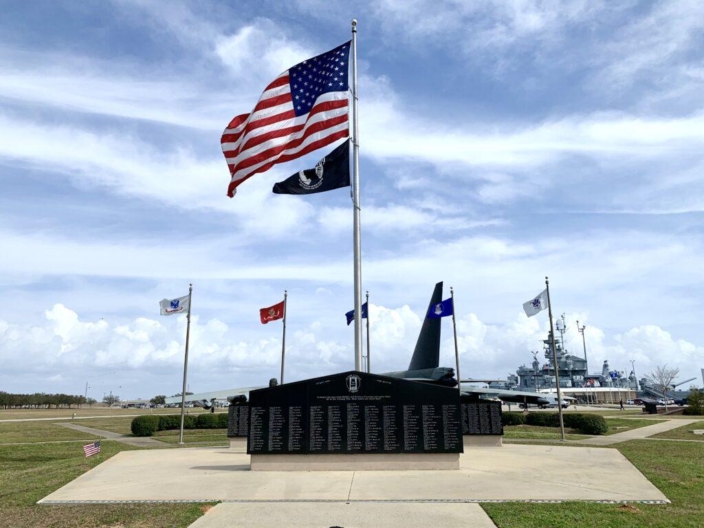 Wwii Memorial At Battleship Memorial Park.