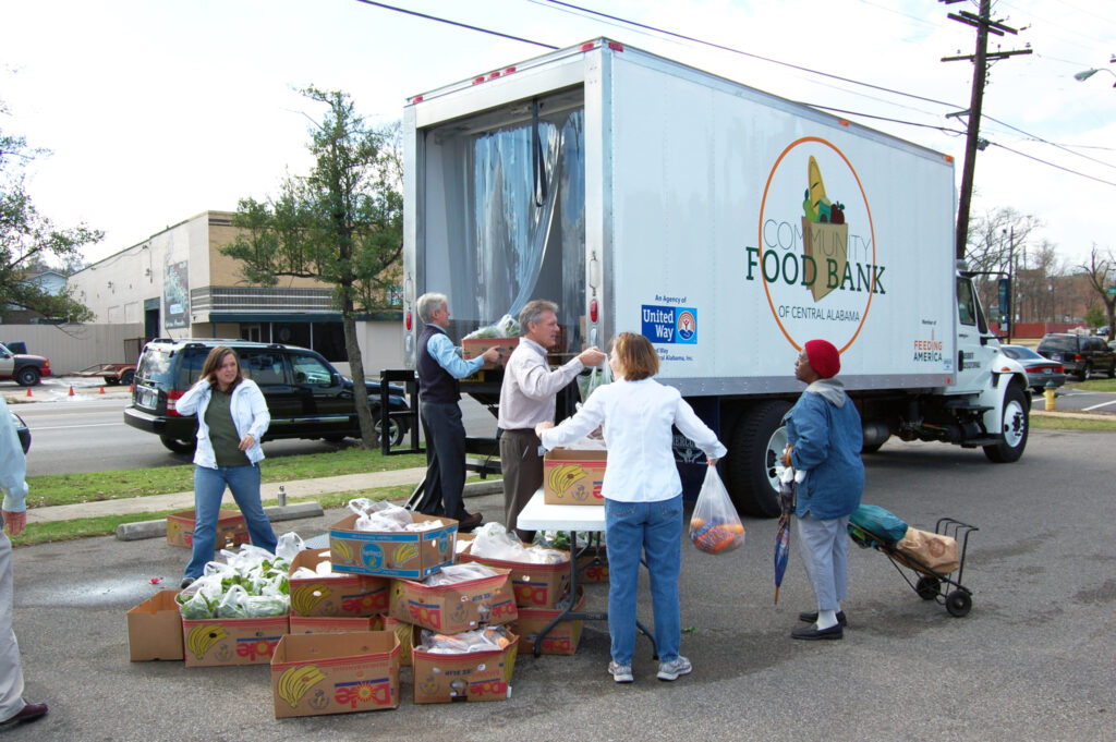 Community Food Banks For Winter Storm Relief