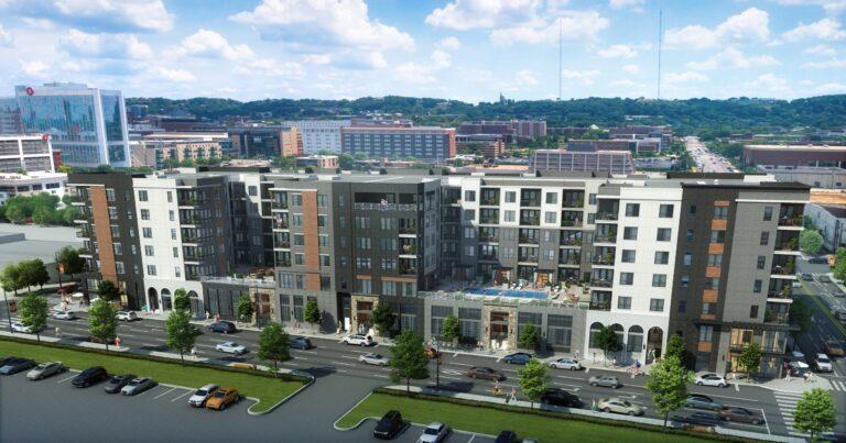 Rendering of Birmingham's Parkside District