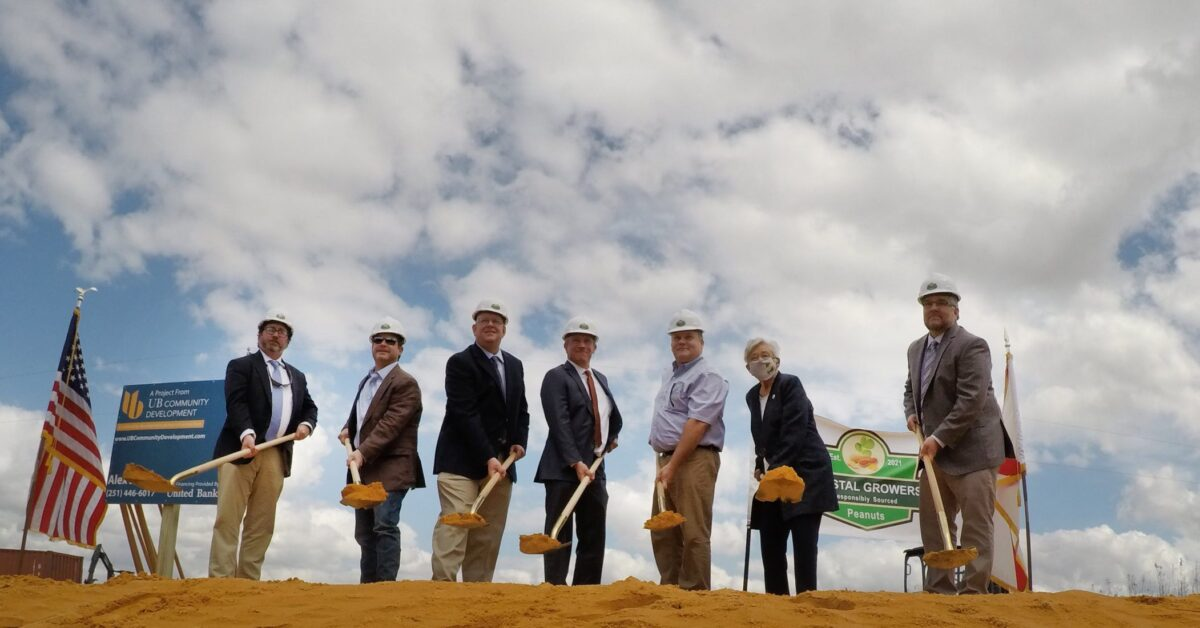 Construction begins on an M peanut facility in Alabama