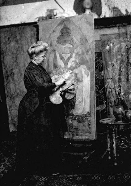 Clara Weaver Parrish Paints In Her Studio