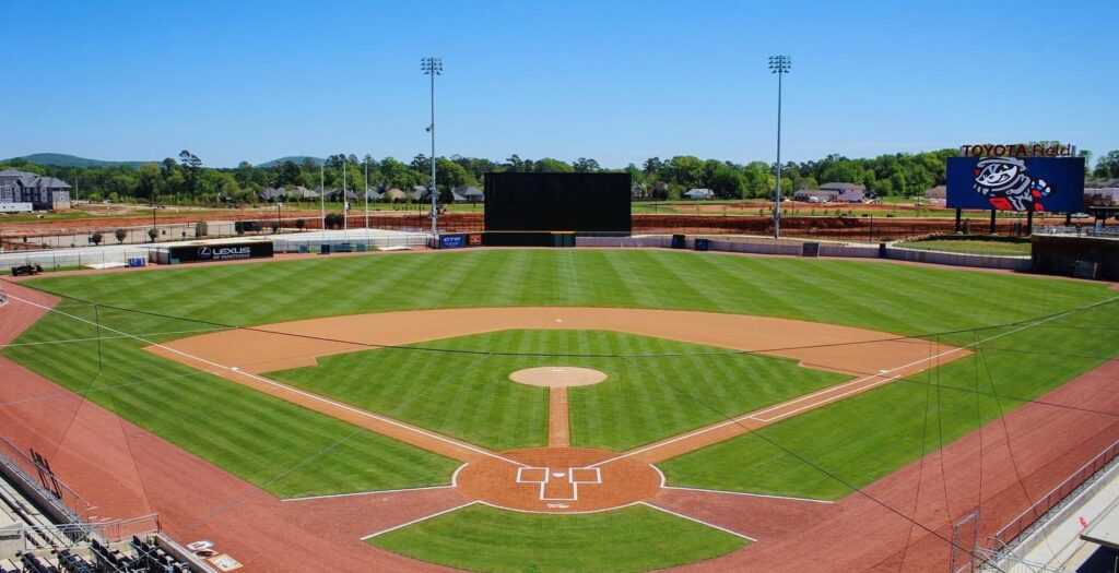 Field View 1 Alabama Baseball, Baseball, Huntsville, Huntsville Alabama, Milb, Milb Season, Rocket City Trash Pandas, Trash Pandas