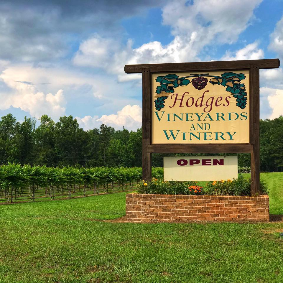 Hodges Vineyard And Winery'S Sign