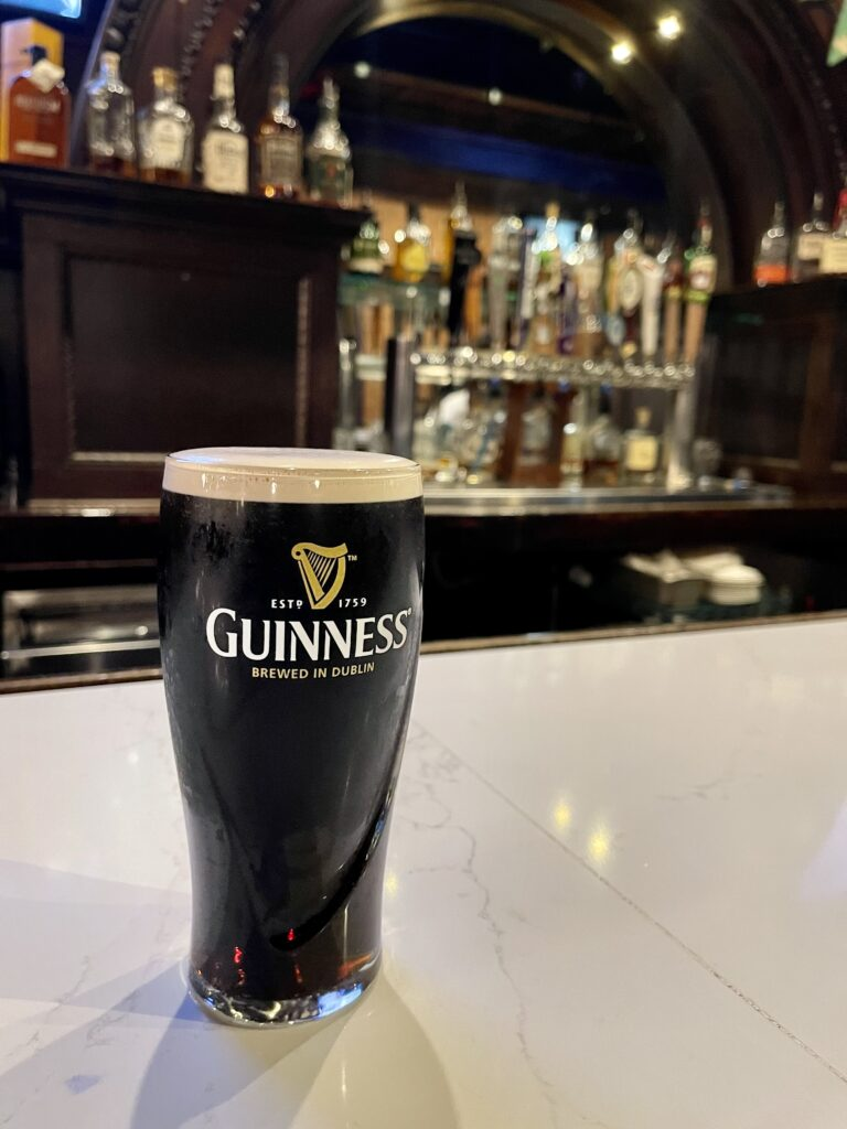 Guiness Beer At The Irish Bred Pub