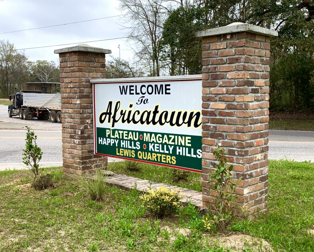 Africatown Welcome Sign