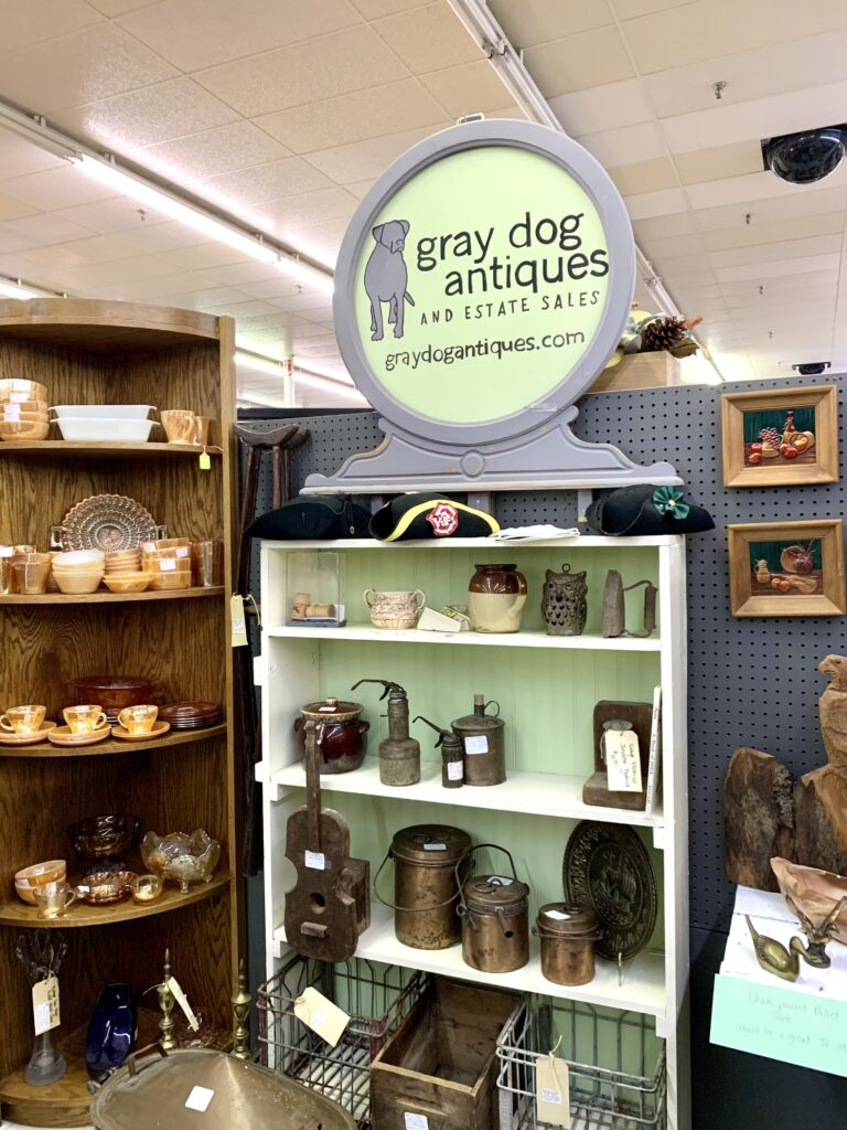 Grey Dog Antiques Booth