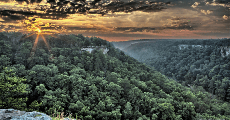 Dramatic Sky over Little River Canyon in Alabama