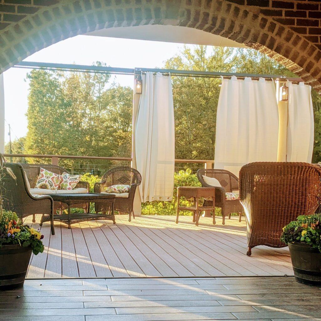 Outdoor Seating At Maraella Vineyards And Winery