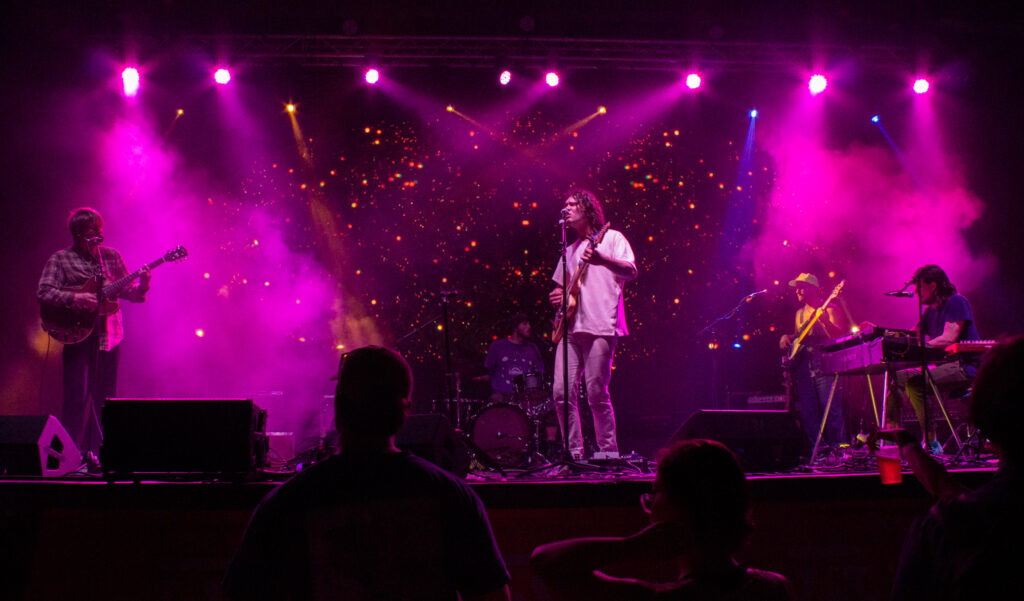 Okey Dokey'S Colorful Graphics Kept Their Audience Engaged Throughout Their Set. Photo Via Libby Foster For Bama Buzz