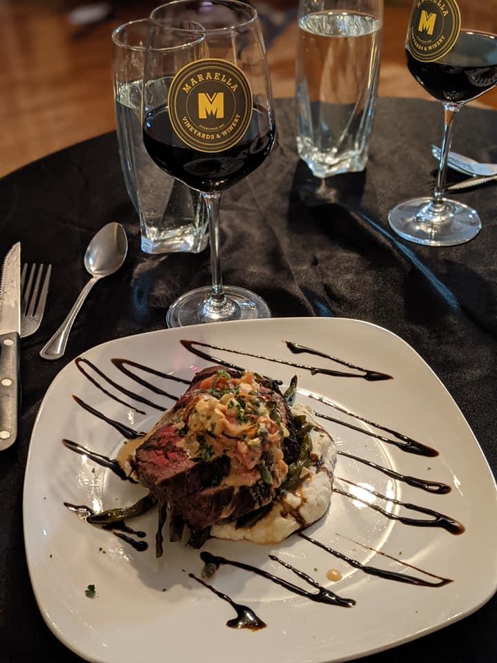 Meal And Wine Pairing At Maraella Vineyards And Winery