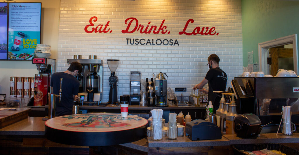 The Coffee At Just Love Tuscaloosa Is The Perfect Pick Me Up For A Cram Session! Photo By Libby Foster For The Bama Buzz.