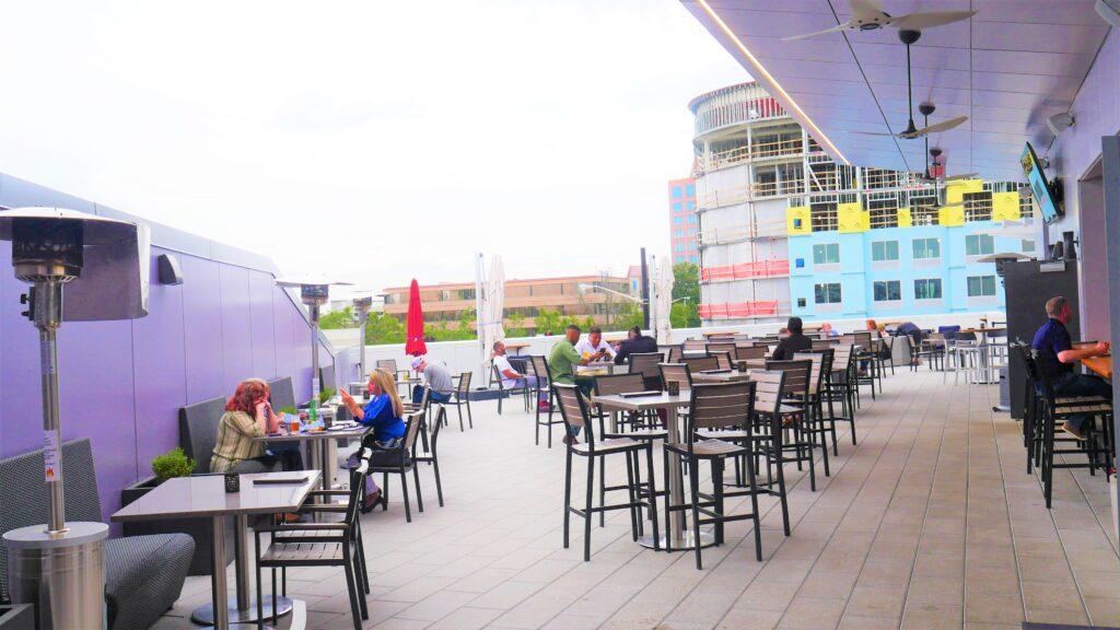 Rhythm Rooftop Full Shot With People 3 Day Out, Martin Bar &Amp; Bistro, Moe'S Original Bbq Huntsville, Nightout, Pourhouse, Rhythm On Monroe, Stella'S Elixir Lounge