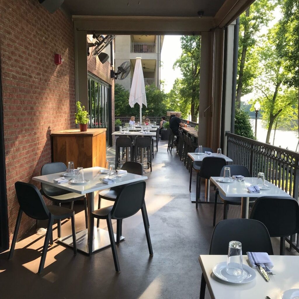 There Is Ample Space On The River'S Patio!