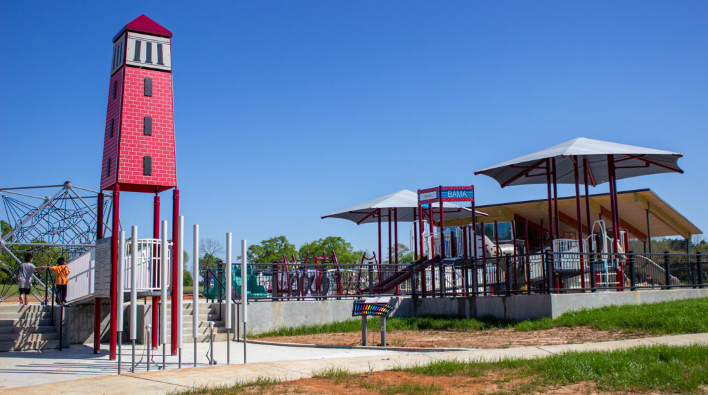 The New Playground At Sokol Park.