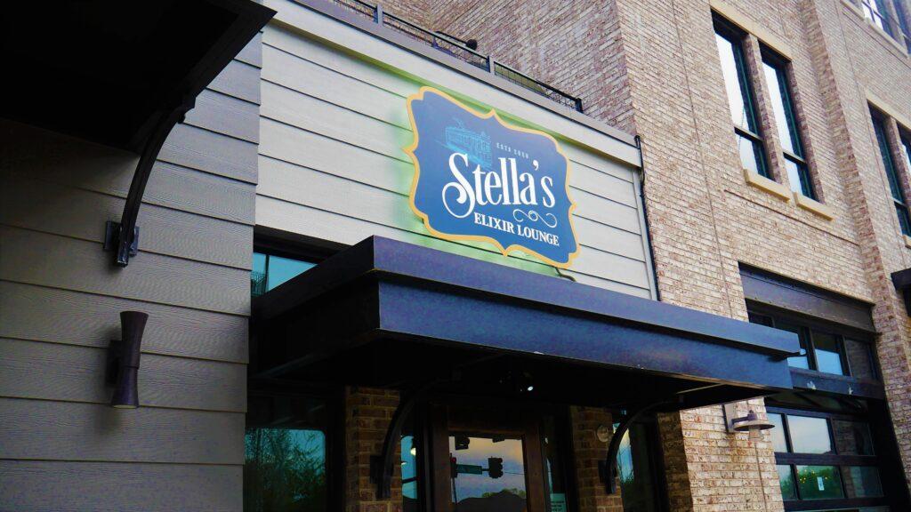 Stellas Sign Outside 2 Day Out, Martin Bar &Amp; Bistro, Moe'S Original Bbq Huntsville, Nightout, Pourhouse, Rhythm On Monroe, Stella'S Elixir Lounge
