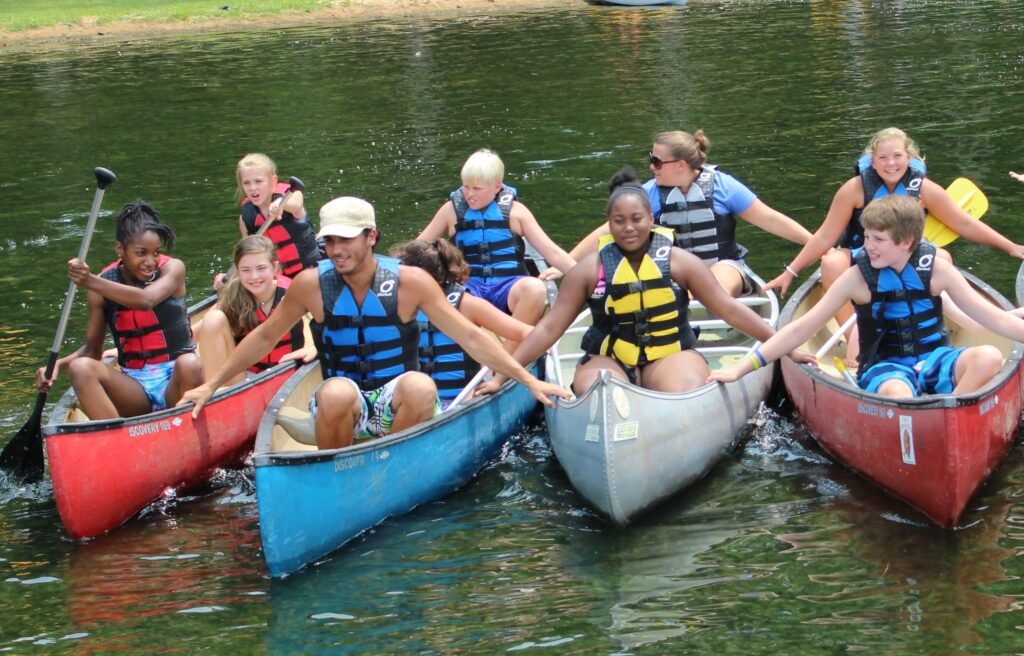 Campers Learn To Canoe At Camp Cha-La-Kee On Lake Guntersville. Photo Courtesy Of Camp Cha-La-Kee.