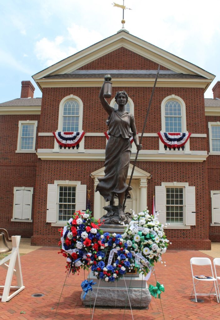 American Village'S Colonial Chapel Is Decorated For Memorial Day Festivities. Photo Courtesy Of American Village.