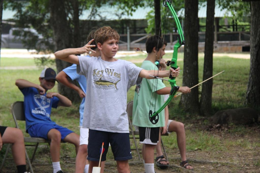Boys Learning Archery Skills At Lookout Mountain Camp. Photo Courtesy Of Lookout Mountain Camp.