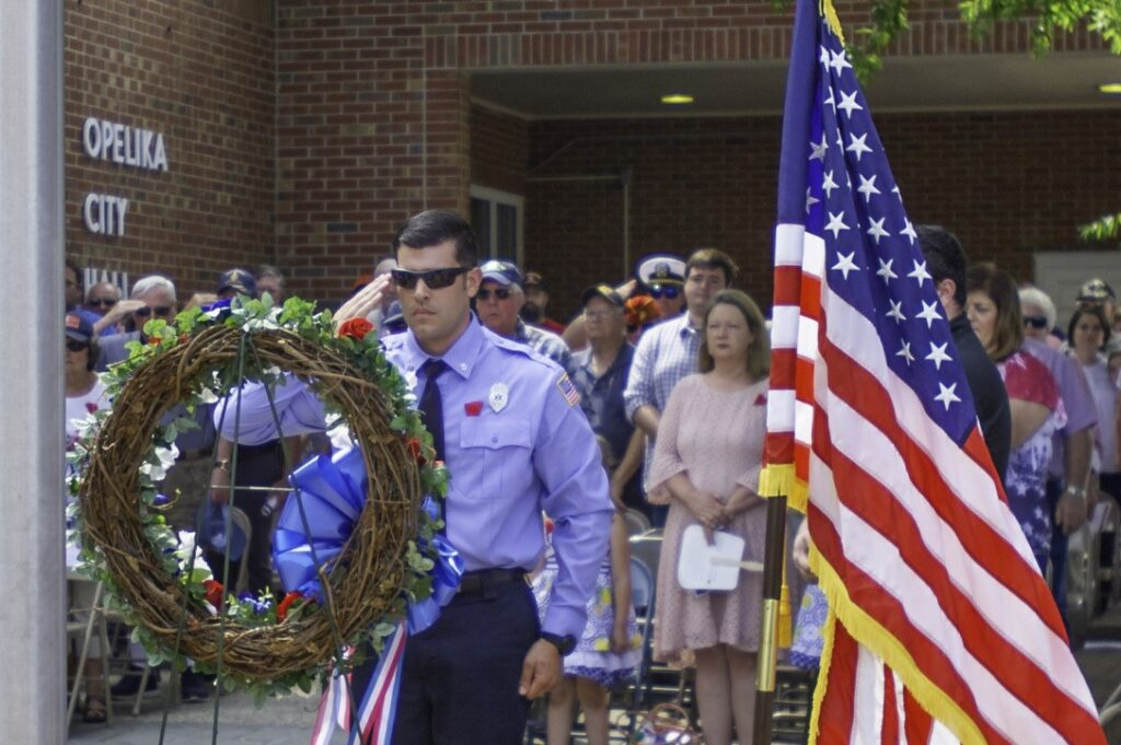 The Opelika Memorial Day Service Remembers Military Heroes. Photo Courtesy Of Opelika Parks And Recreation.