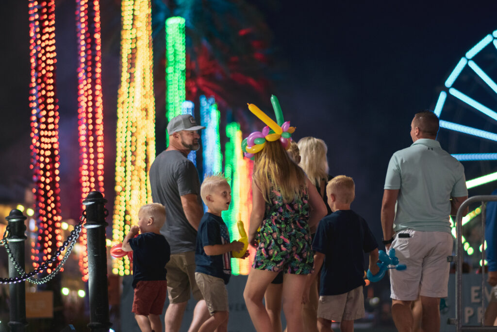 Sparks After Dark Offers Fun For The Whole Family! Photo Courtesy Of The Wharf.