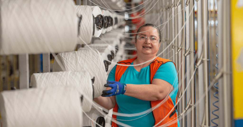 Knitters rejoice! Learn how Mohawk Industries plans to create 130 new Alabama jobs with Roanoke yarn production plant