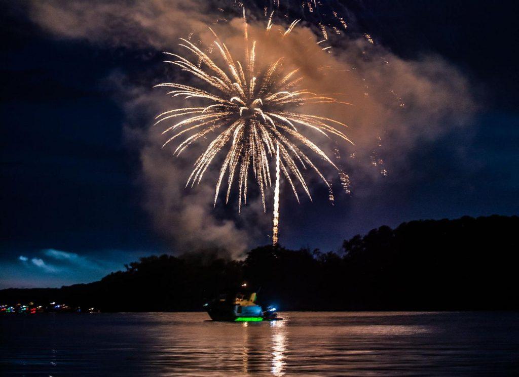 Fireworks Light The Night At Point Mallard Park.