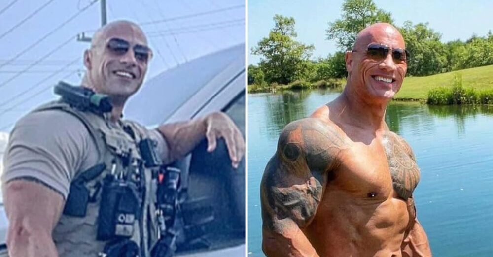 The Rock and his Morgan County look-a-like officer Eric Fields meet on social media